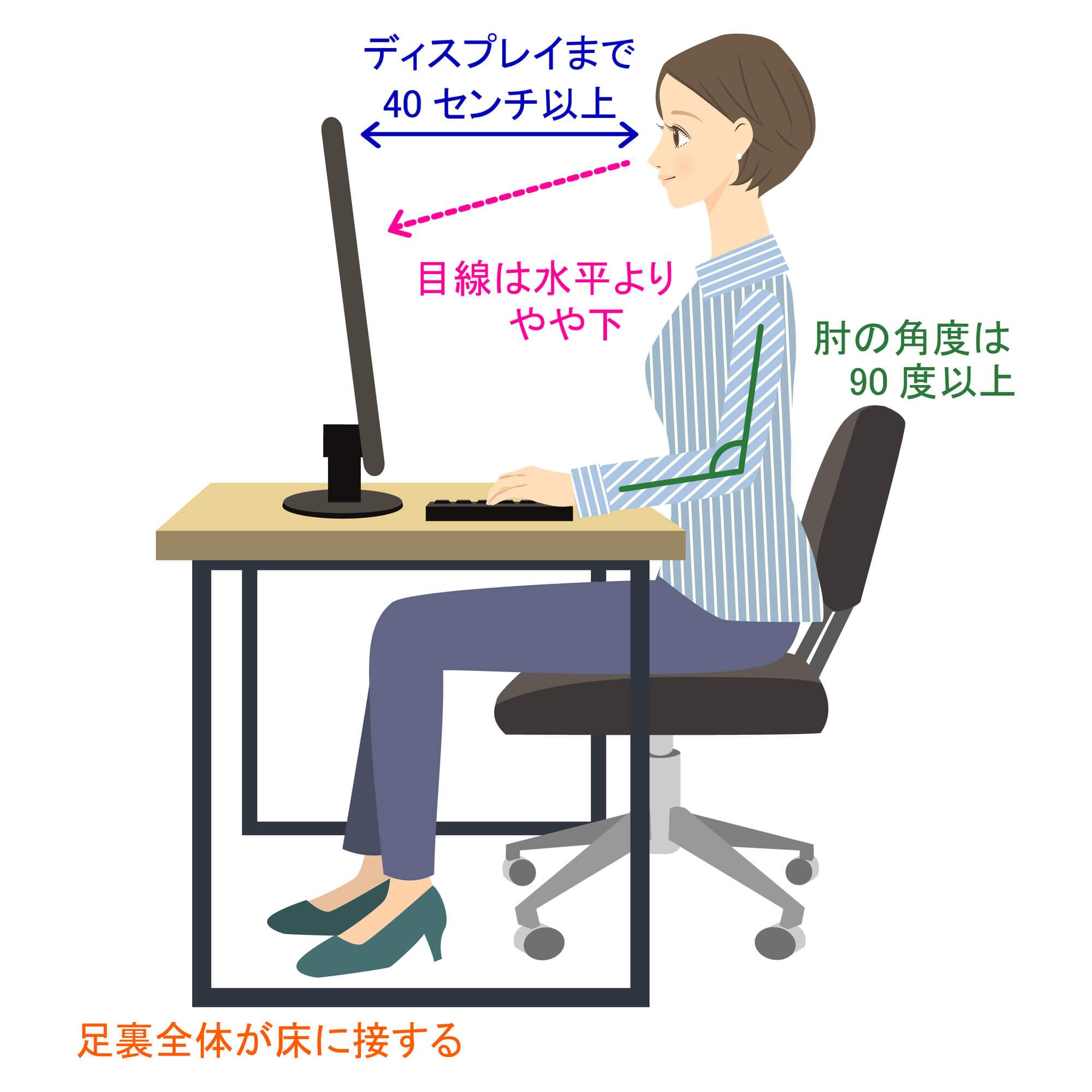 ぎっくり首を予防する正しい姿勢
